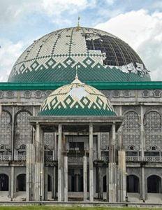 kubah masjid rusak